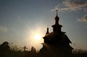 Храм закат